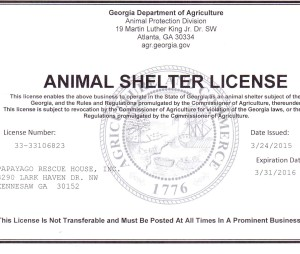 animal shelter license