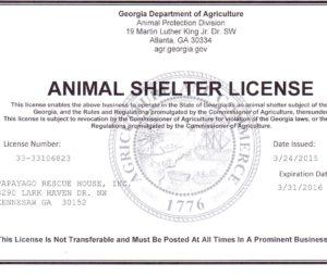 animal shelter license