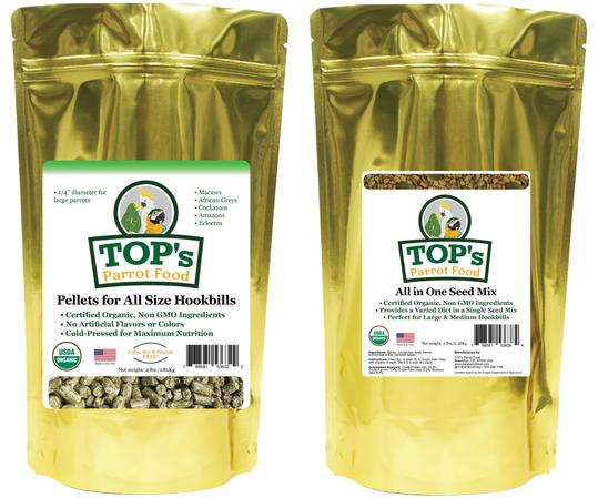 TOP's Large Bird Pellet & Seed Two-Pack